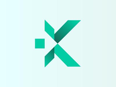Lette K Logo Design with Arrow Symbel modern logo