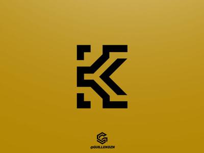 Modern Letter K Logo letter k lettering modern letter k logo minimal vector typography type sports illustrated mark logotype logosports logoesport logodesign logo illustration esports design branding