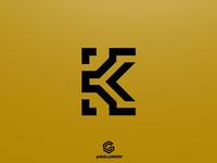 Modern Letter K Logo