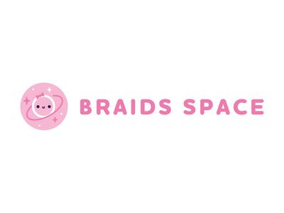 Braids Space logo logo design braids space logotype logo