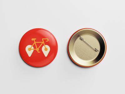 Pin bicycle branding icon logo pin