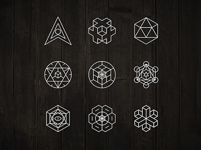 sacred geometry icons by oleg levin dribbble