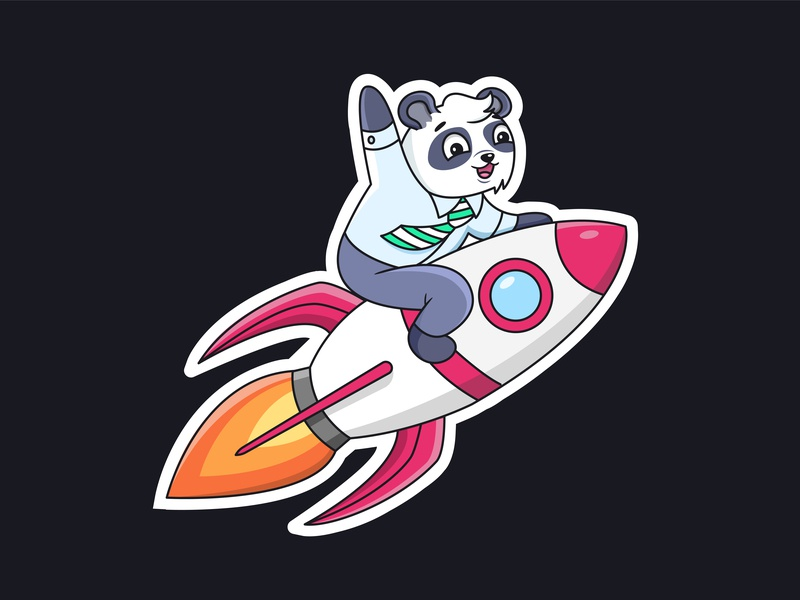 Membrana Sticker pack cute telegram sticker character designs whales sportcar whale to the moon lambo cash money banking bank crypto trading trader crypto character panda illustration illo