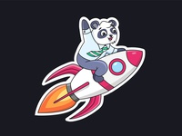 Little Panda To The Moon