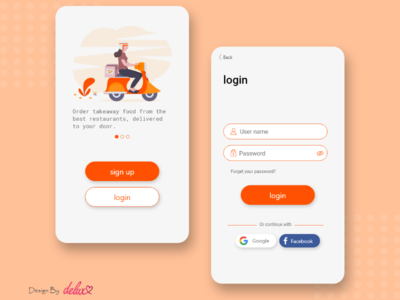 login page ui design