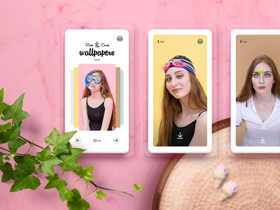 Pirate Candy - wallpapers photo website ui ux branding app wallpaper design