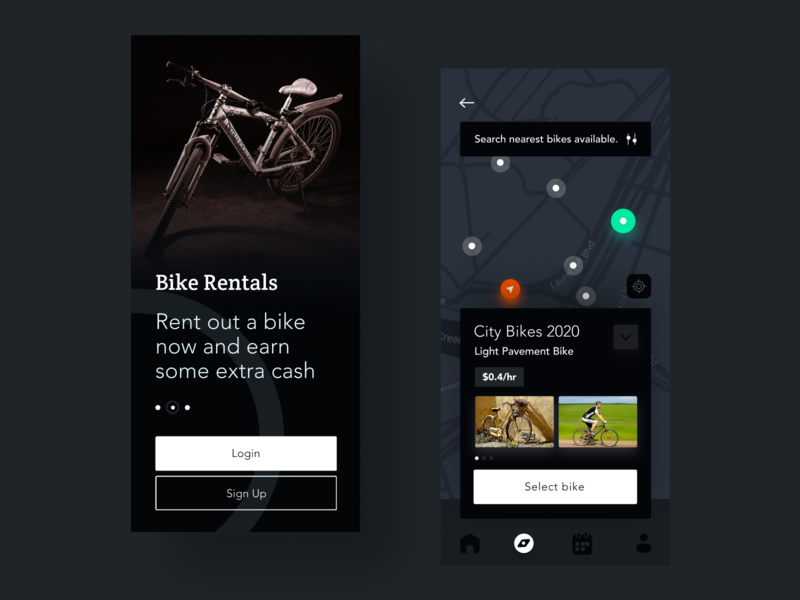 Bike Rental App ux uiux app design interface interaction clean colors ui sarvottam