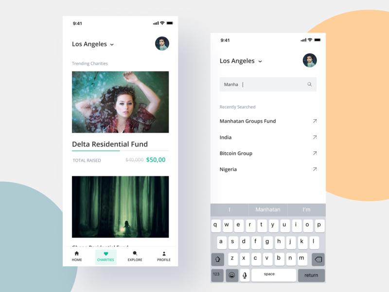 Charity app -3 ui design uiux gradient illustration app design interface interaction clean colors ui sarvottam