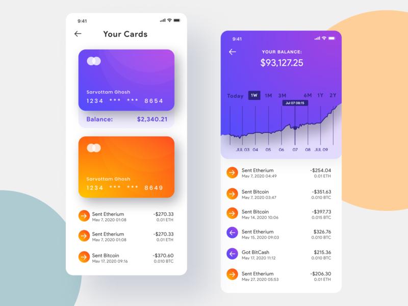 Cryptocurrency exchange app UI ui  ux uiuxdesigner uiux design uiuxdesign uiux gradient illustration app design interface interaction clean colors ui sarvottam