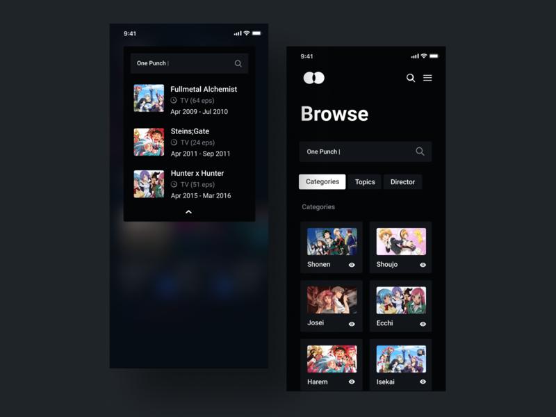 Anime streaming app ui design uiux gradient app illustration design interface interaction clean colors ui sarvottam
