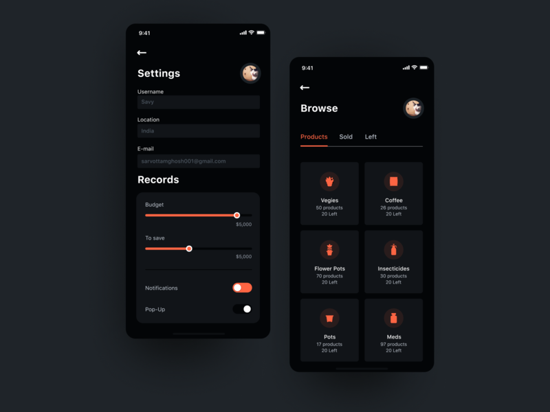 Dark Mobile UI ( Dark Theme )  Hope you like it uiuxdesign uiux gradient app illustration design interface interaction clean colors ui sarvottam