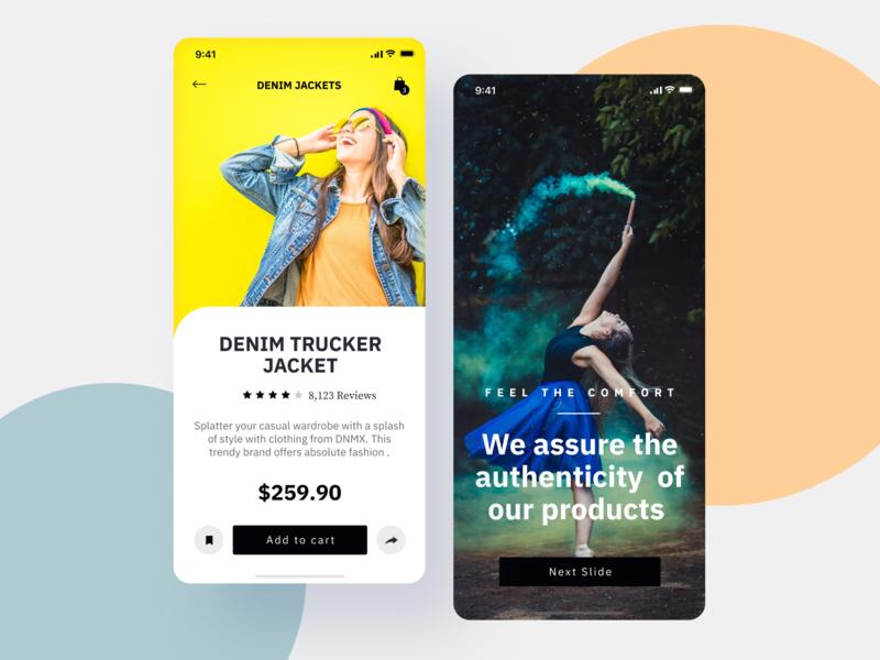 Online Shopping App Design ux uiux app design interface interaction clean colors ui sarvottam
