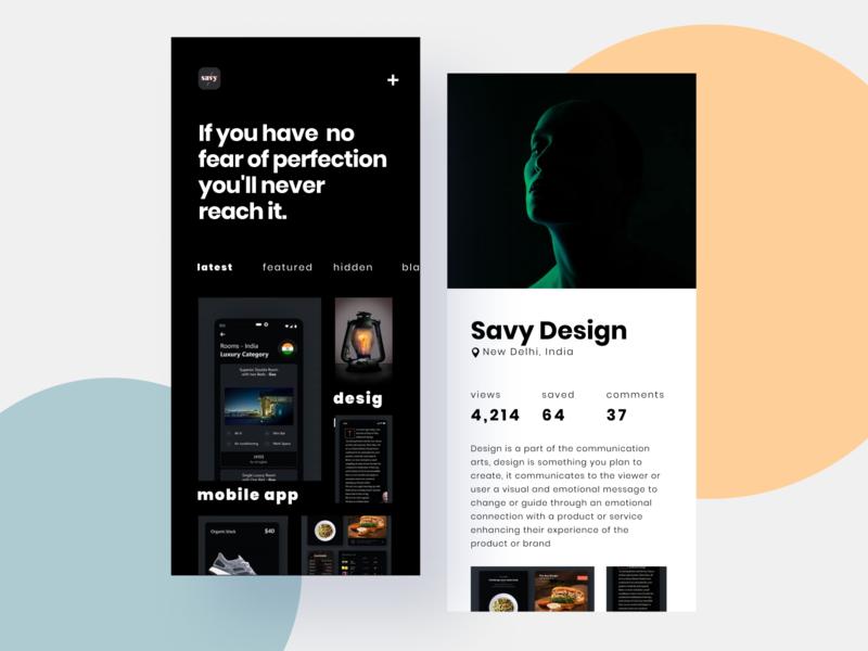 Minimal Designer Profile App . uiux gradient illustration app design interface interaction clean colors ui sarvottam