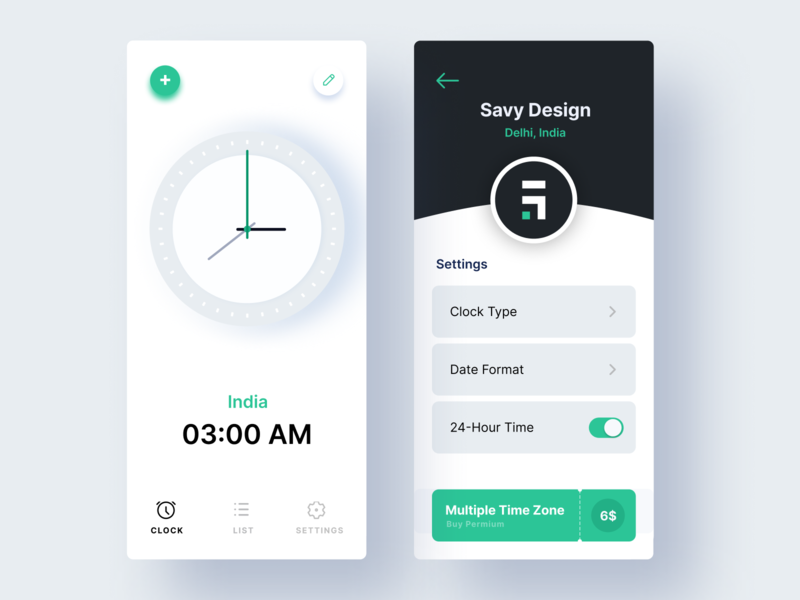 Minimal Clock App UI Design Exploration neomorphism clocks ux design ui design minimal clock uiux gradient illustration app design interface interaction colors clean ui sarvottam