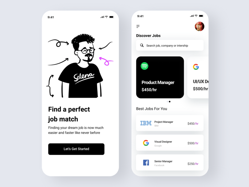 Mobile application design for Job Portal ui design trends latest trend latest portal jobport job uidesign uiux gradient illustration app design interface interaction clean colors ui sarvottam