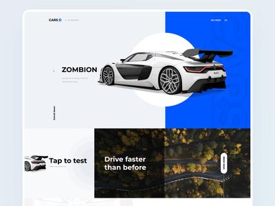 Landing page - ZOMBION carson ui typography ux hello dribbble sarvottam branding gradient logo app illustration design