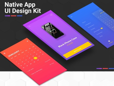 Avengers End Game Native App UI Design Kit