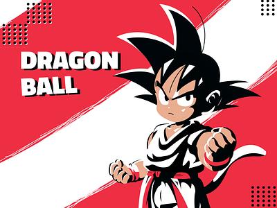 Kid Goku draft sarvottam red drawing black vibrant dragonball dragon goku ux interface interaction hello dribbble illustration gradient clean app design colors ui