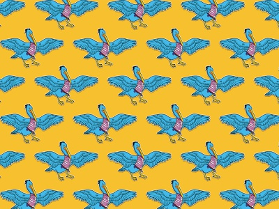 Pelican fable pattern graphic design pattern design pattern pelican colorful design illustration