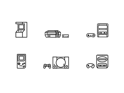 Game console icons icons icon video games consoles minimal illustration flat illustration vector illustration design minimal vector flat design illustration