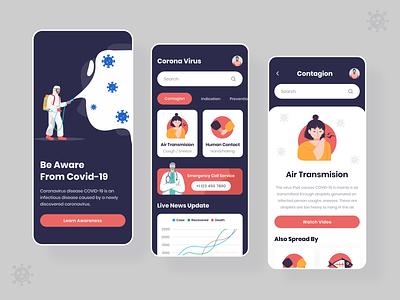 Covid 19 trending trend 2020 typography app designer ios app corona renderer health app medical app health covid-19 corona virus coronavirus covid19 app design app illustration clean ux ui