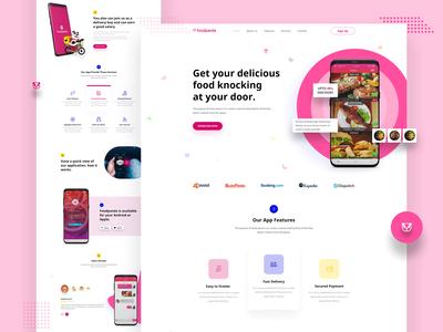 App landing - online food delivery app