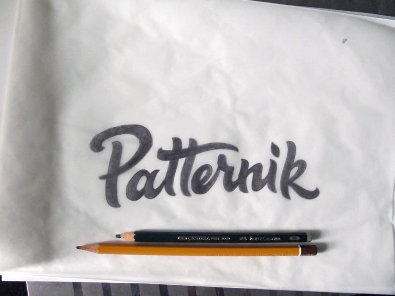 Patternik ver. 2 lettering typography sketch logotype logo