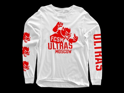 Print for Spartak Moscow ultras t-shirt shirt design logo t-shirt design ultras pig boar mascot football clothing brand print type lettering
