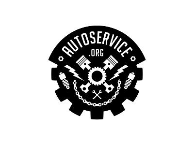 Autoservice logotype typography lettering service auto logo badge logo badge