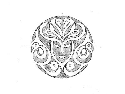 Muse sketch wine badge illustration design brand sketch logo logotype