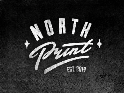 North Print logo concept typography logotype lettering type north print