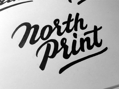 North Print #2 sketch typography logo logotype lettering type north print