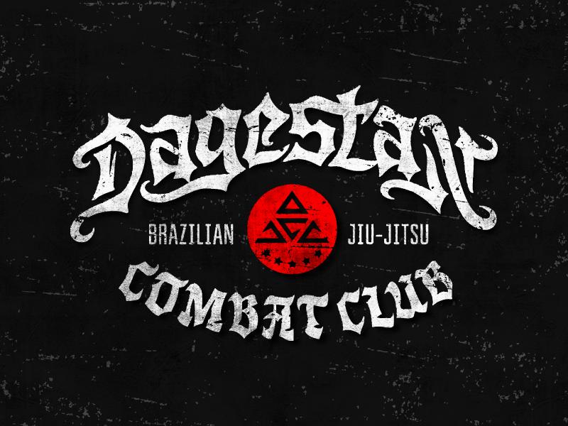 Dagestan combat club logo typography logotype lettering type dagestan combat club jiu-jitsu clothing brand