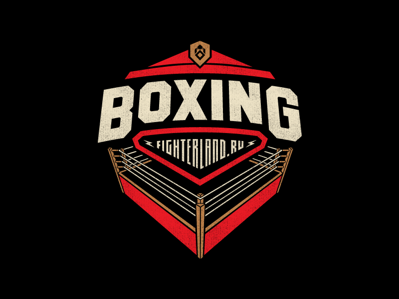 Boxing logo typography logotype lettering type boxing fighter land apparel clothing brand