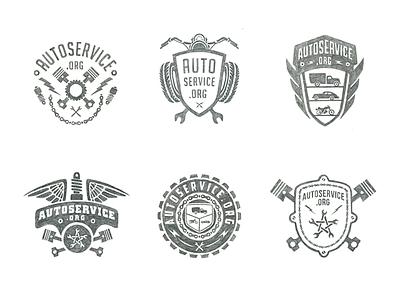 Autoservice sketch typography logo logotype lettering typehandwritten auto moto motor autoservice
