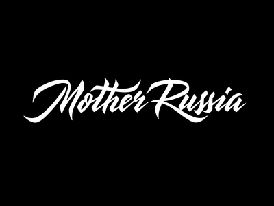 Mother Russia streetwear russia mother typography lettering logotype logo