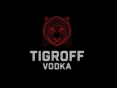 Tigroff vodka animal illustration animal logo animal tiger logo tiger vodka russian type vector branding design illustration brand logo logotype typography lettering
