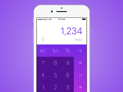 Calculator dailyui mobile sketch 004 calculator