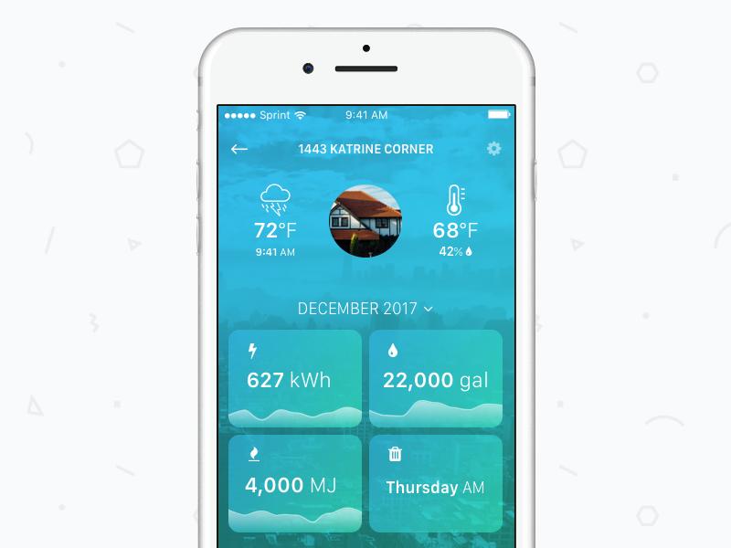 Home Profile mobile sketch dailyui 006 profile user home app management