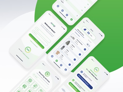 iCEEP application app design zerowaste development reward green recycling application app branding ux ui design