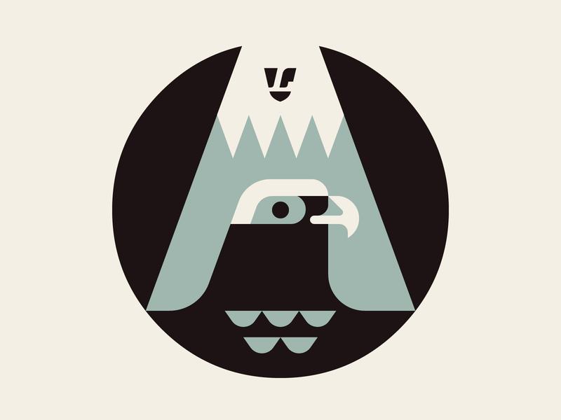 MIRU (to see) Symbol WIP logo josh brill badge lumadessa icon miru illustration mountain hawk bird design vector branding symbol art artwork wip