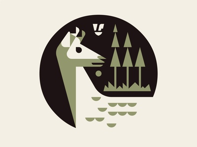 Tokoro Symbol WIP wip lumadessa artwork art illustration trees deer branding vector josh brill graphic design design icon logo symbol tokoro
