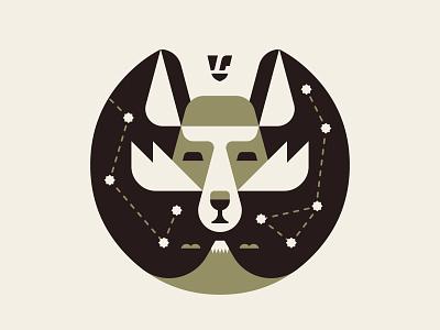 Hirogari (Expanse) Symbol WIP clouds mount fuji mountain stars fox illustration branding vector lumadessa art artwork design logo icon wip symbol expanse
