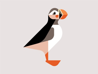 Atlantic Puffin WIP branding graphic design bird logo art artwork illustration design atlantic puffin puffin