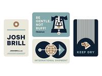 JOSH BRILL Shipping Stickers WIP