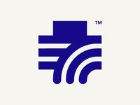 Health cross logo concept