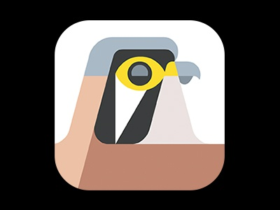 American kestrel icon by josh brill