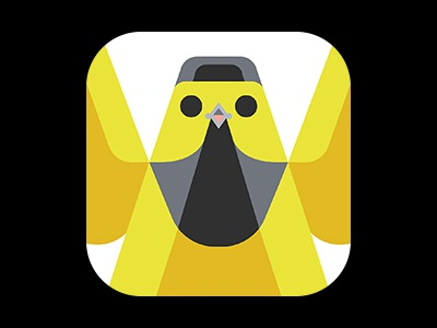 Hooded warbler icon by josh brill