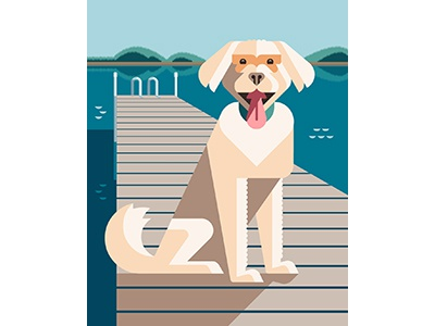 Ruby Portrait vector modern art dog portrait artwork design