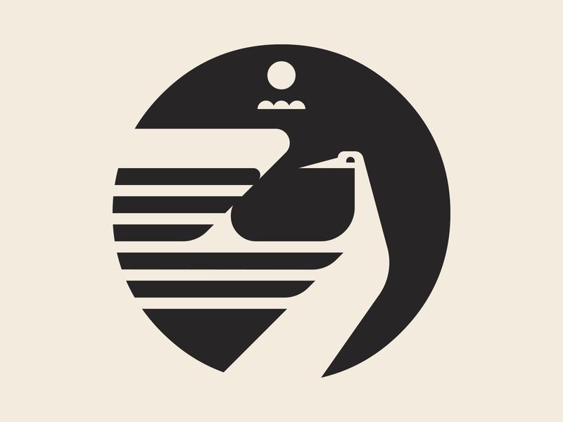 Sora Symbol (B&W) WIP stamp art vector design sky icon artwork branding crane logo illustration wip symbol sora